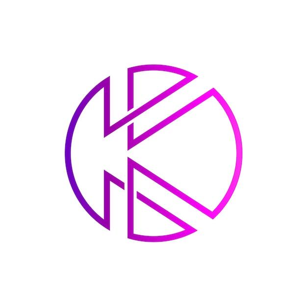 Lettre k logo initial Vecteur Premium