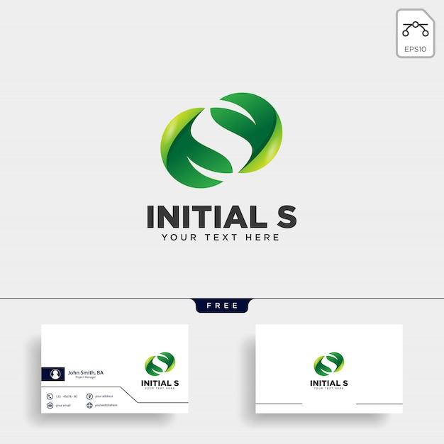 Lettre lettre s logo Vecteur Premium