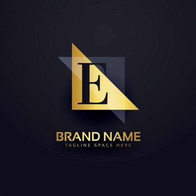 Lettre logo e dans un style moderne Vecteur gratuit