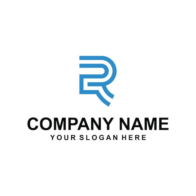 Lettre Logo R Vecteur Premium