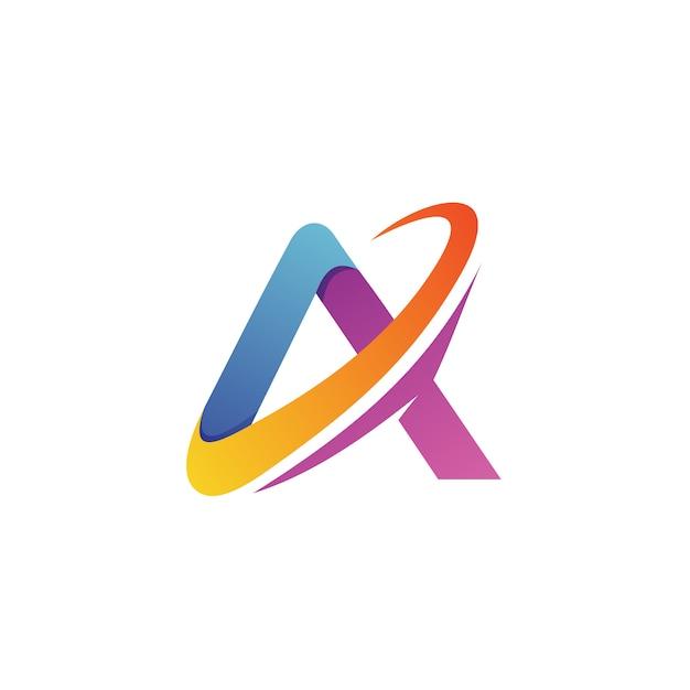 Lettre un logo vector Vecteur Premium