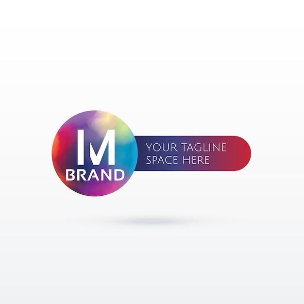 Lettre m résumé logo conception concept Vecteur gratuit