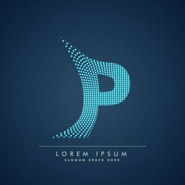 Lettre moderne p contexte Vecteur gratuit
