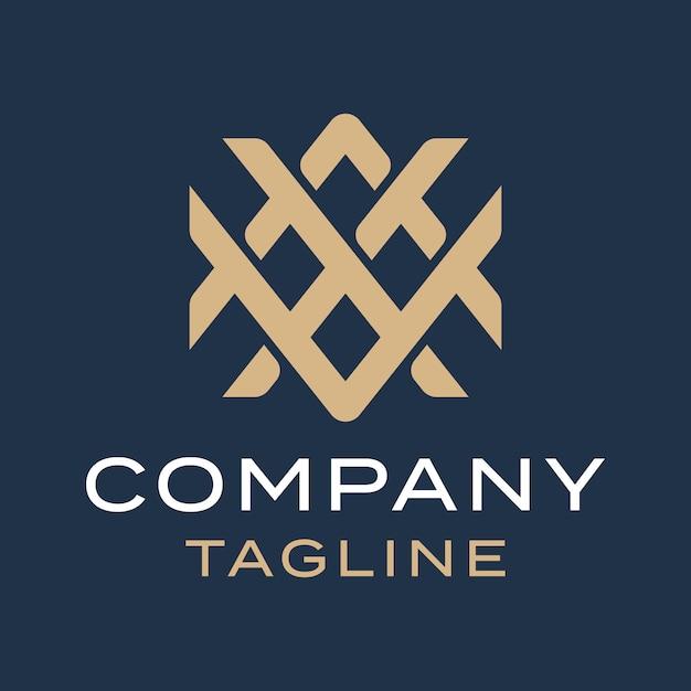 Lettre De Monogramme Moderne Simple Luxe Abstrait Axv Création De Logo Or Vecteur Premium