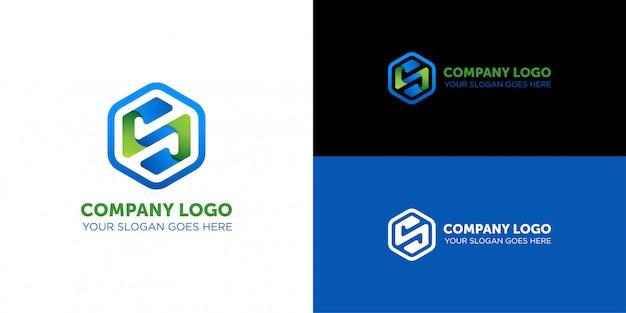 Lettre N Société Nano Tech Logo Vecteur Premium