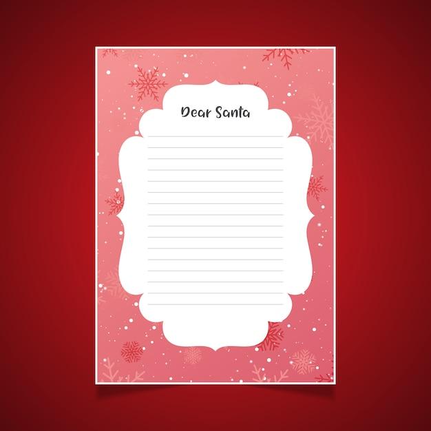 Image De Lettre De Noel.Lettre De Noel Au Pere Noel Avec Des Flocons De Neige