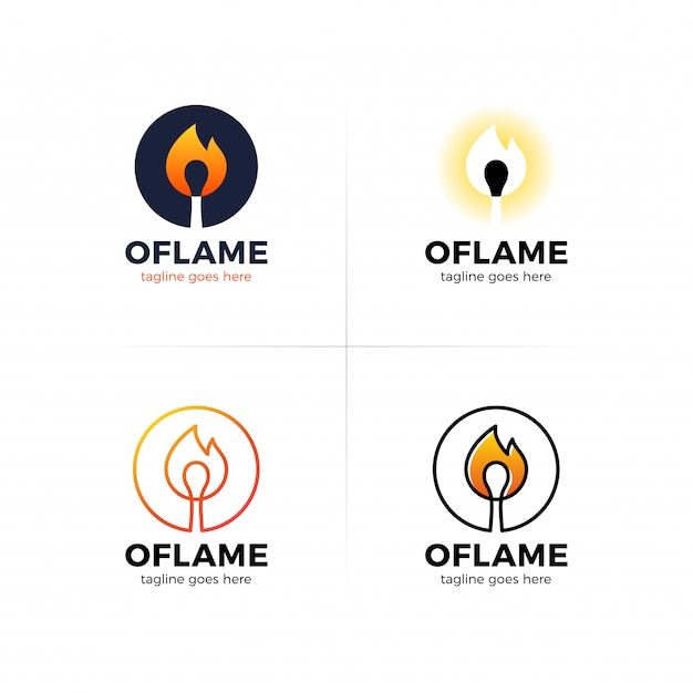 Lettre o logo avec allumette de feu au centre. | Télécharger des ...