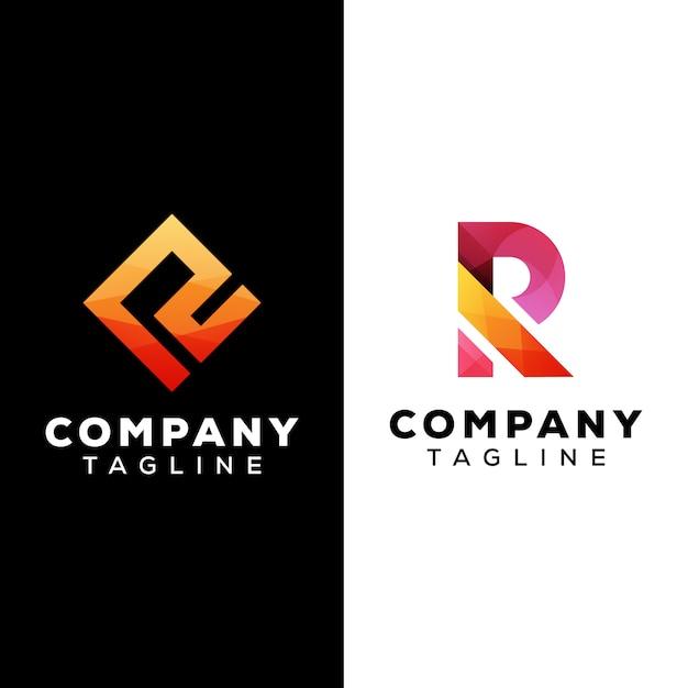 Lettre R Logo Modèle Premium Vecteur Vecteur Premium