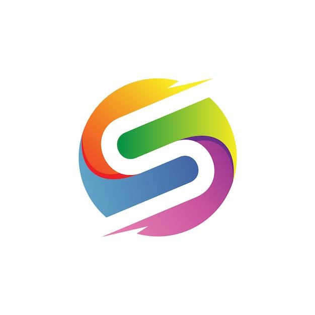 Lettre s en cercle logo vector Vecteur Premium