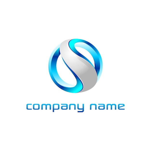 Lettre s logo design Vecteur Premium