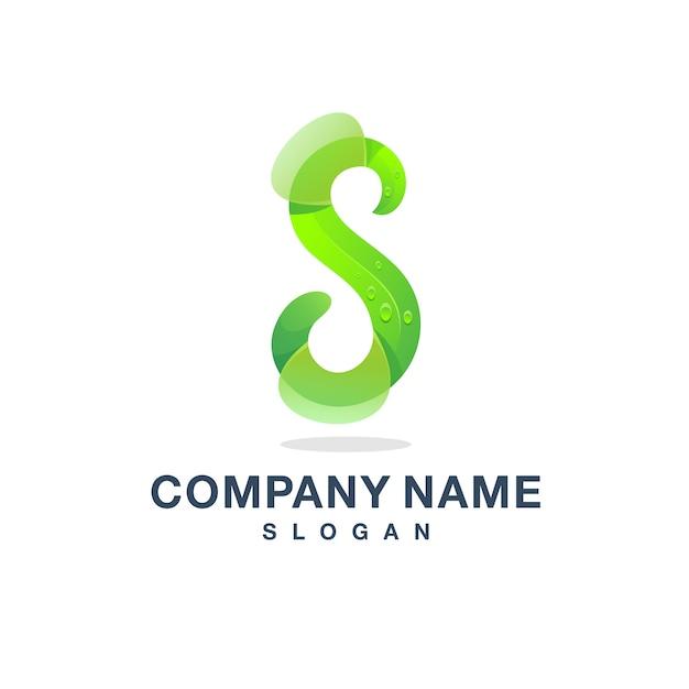 Lettre s logo Vecteur Premium