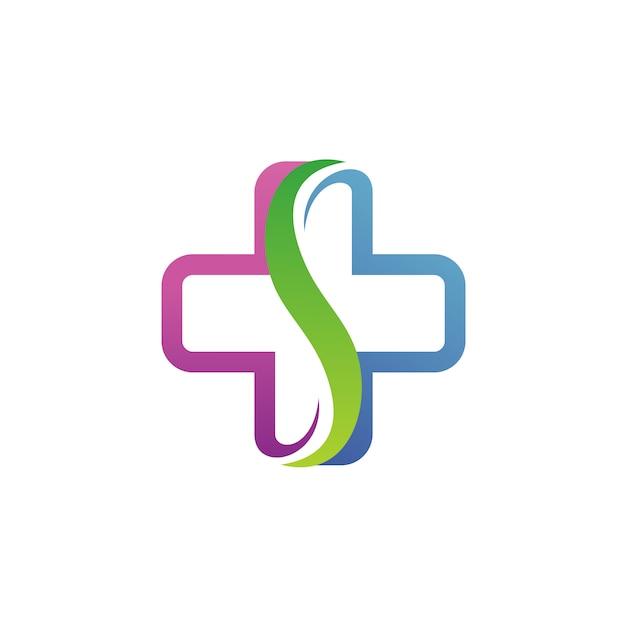Lettre s medical logo vector Vecteur Premium