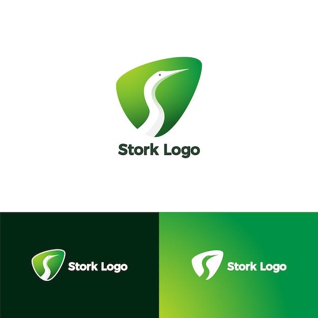 Lettre s pour stork logo Vecteur Premium