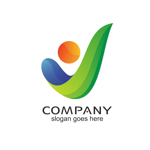 Lettre V Personnes Logo Abstrait Vector Vecteur Premium