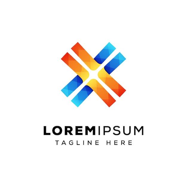 Lettre X Ligne Logo Premium Vecteur De Conception Vecteur Premium