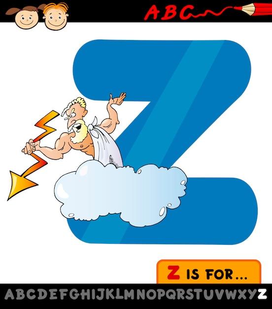 Lettre Z Avec Illustration De Dessin Anime Zeus Telecharger Des