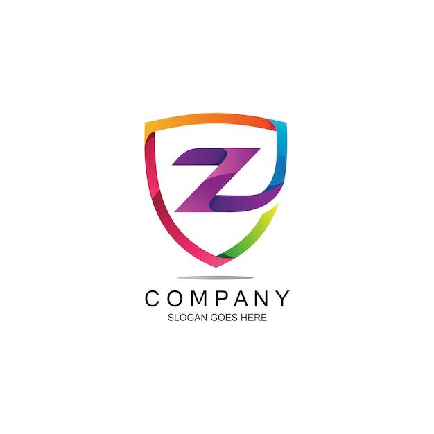 Lettre Z Et Logo Bouclier En Vecteur Vecteur Premium