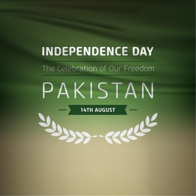 Liberté célébration étiquette pakistan Vecteur gratuit