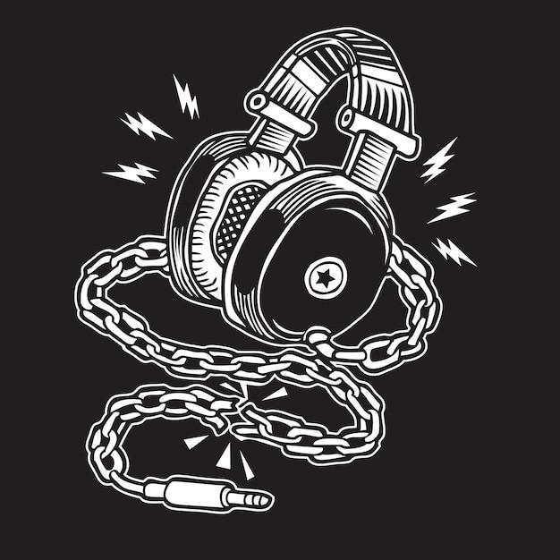 Liberté musicale Vecteur Premium