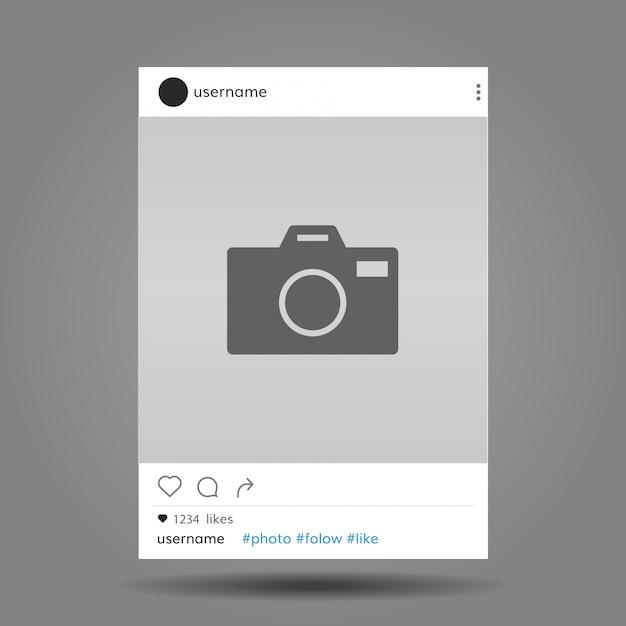 Lieu de poste de réseau social pour le modèle de maquette photo Vecteur Premium