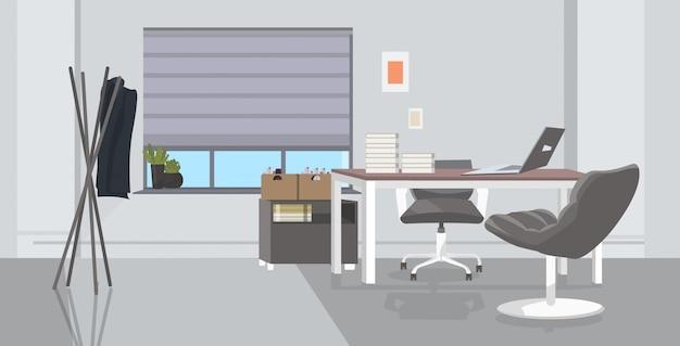 Lieu De Travail Créatif Vide Aucun Peuple Armoire Avec Des Meubles Bureau Moderne Croquis Intérieur Vecteur Premium