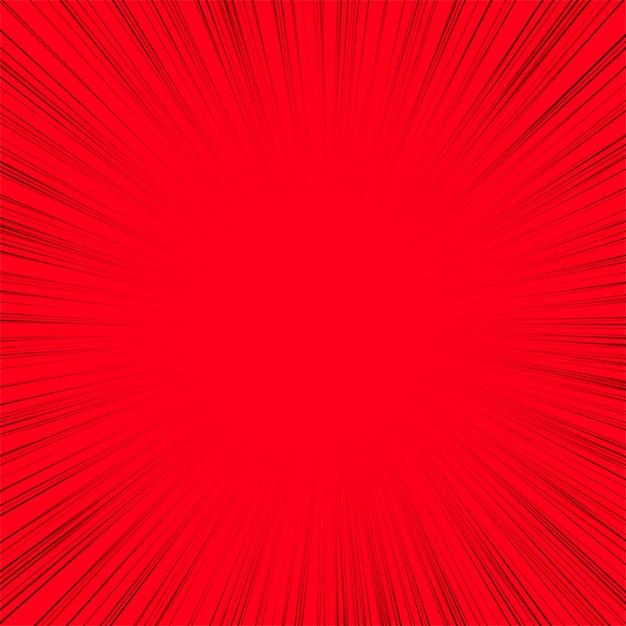 Ligne abstraite rayons fond rouge Vecteur gratuit