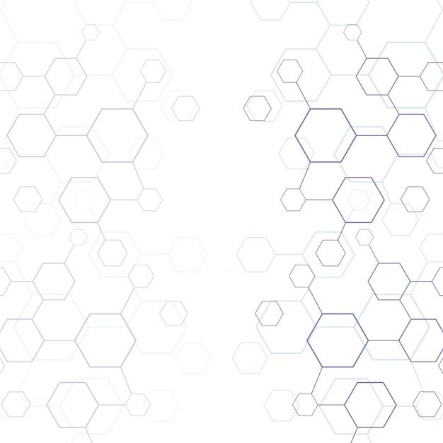 Ligne abstraite texture hexagonale géométrique Vecteur gratuit