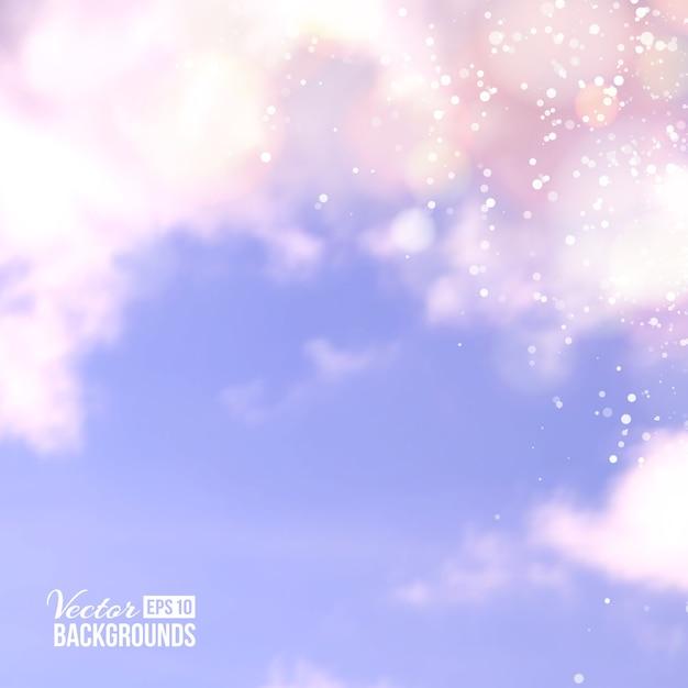 Ligne Blanche Sur Nuage Dans Le Ciel Bleu. Vecteur gratuit