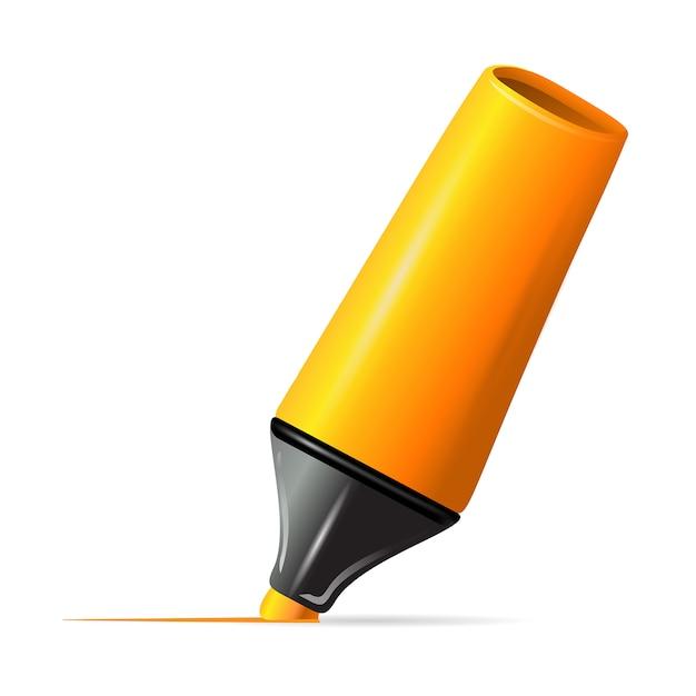 Ligne de dessin yellow marker Vecteur gratuit
