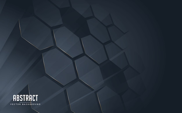 Ligne de fond abstrait géométrique couleur de lignes noires et dorées. Vecteur Premium