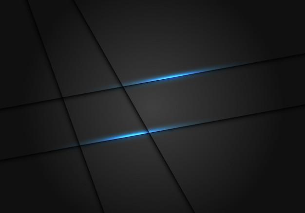 Ligne de lumière bleue ombre fond de luxe gris foncé. Vecteur Premium