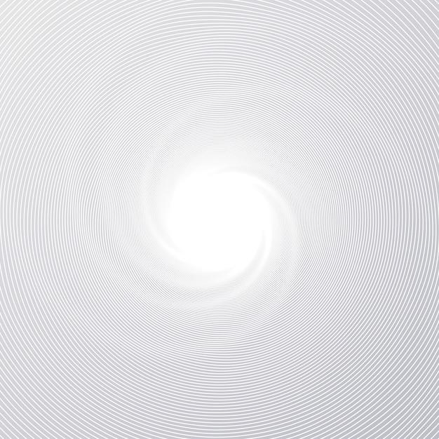 Ligne minute radiale vortex Vecteur Premium