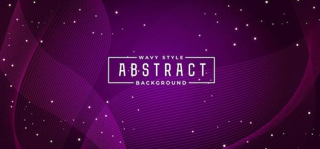 Ligne d'onde abstraite fond coloré Vecteur Premium
