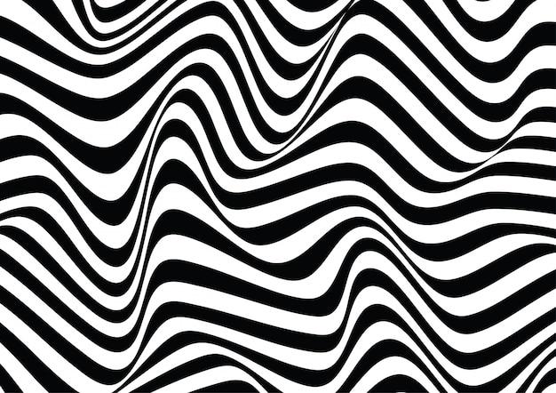 Ligne Ondulée Illusion D'optique Texture Fond Vecteur Premium