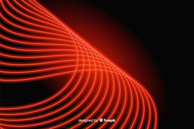 Ligne rouge incurvée avec fond de lumières Vecteur gratuit