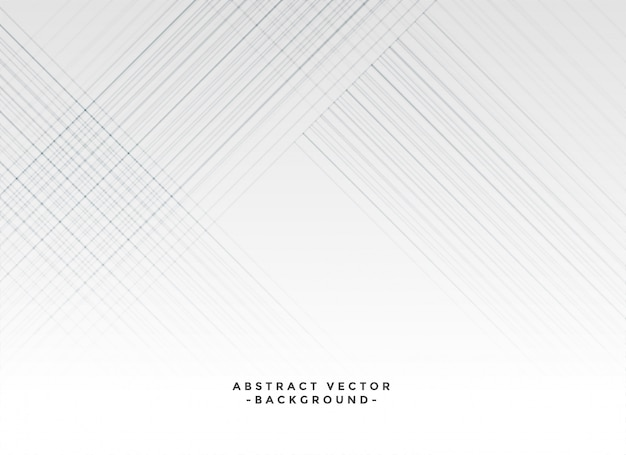 Lignes blanches élégantes fond blanc Vecteur gratuit