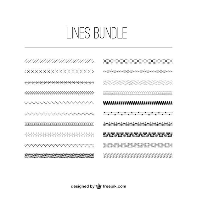 Lignes bundle Vecteur gratuit