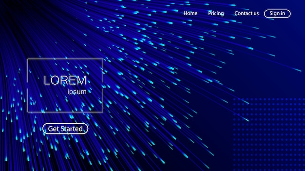 Lignes Composées D'arrière-plans Lumineux, Abstrait Vecteur Premium