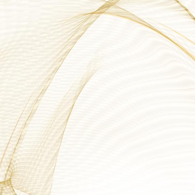 Lignes Dorées Brillantes Sur Fond Blanc. Vecteur gratuit