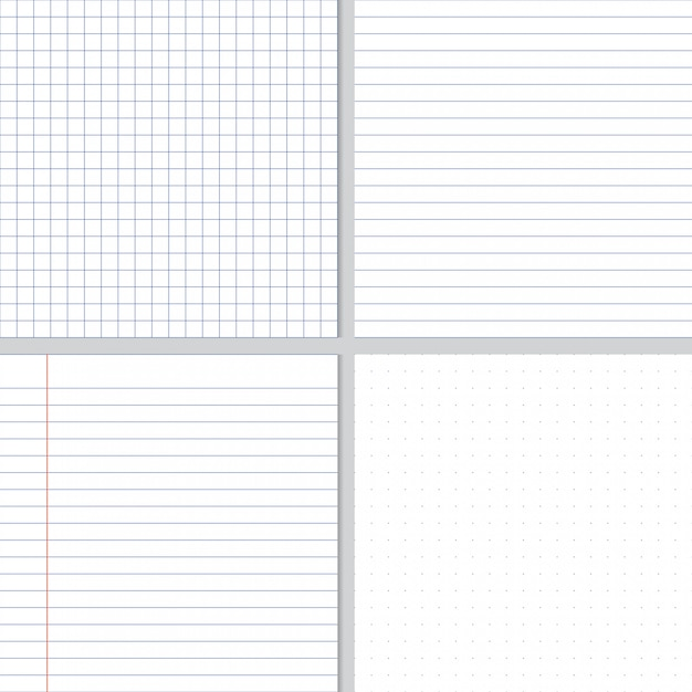Lignes de graphique bleu papier froissé blanc et motif sans soudure de points Vecteur Premium