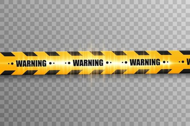Lignes Isolées. Bandes D'avertissement. Mise En Garde. Signes De Danger. Vecteur Premium