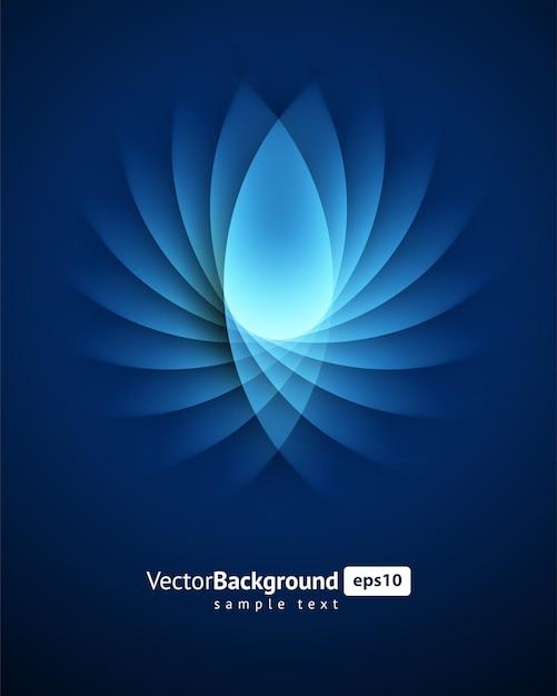 Lignes de lumière abstraites torsion lisse bleu vector background. Vecteur Premium