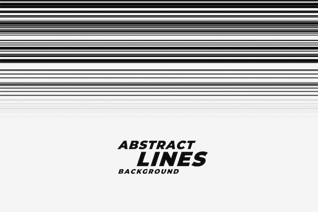 Lignes de mouvement abstraites de vitesse dans le backgorund noir et blanc Vecteur gratuit