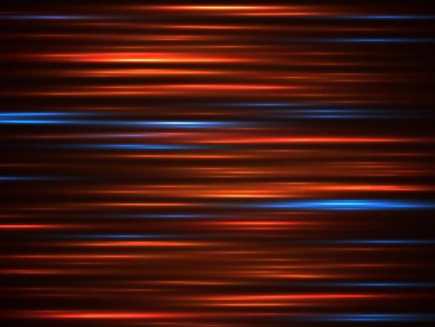 Lignes de mouvement de la voiture de vitesse sur fond sombre Vecteur Premium