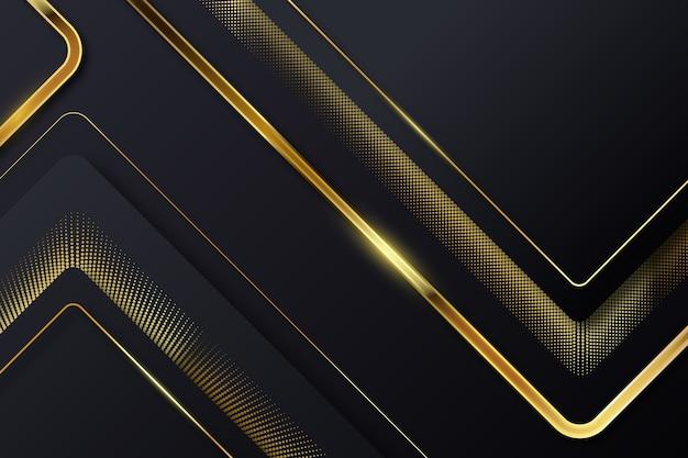 Lignes D'or Cassées Sur Fond Sombre Vecteur gratuit