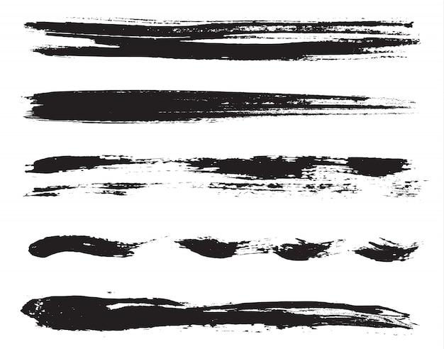 Lignes de peinture grunge Vecteur Premium