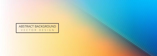 Lignes De Rayures Modernes Fond De Bannière Colorée Vecteur gratuit