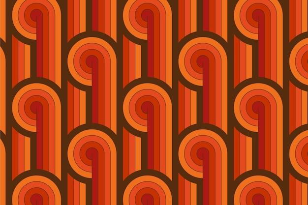 Lignes Vintage De Modèle Sans Couture Groovy Géométrique Vecteur gratuit