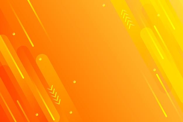Lignes De Vitesse Copie Espace Fond Orange Vecteur Premium