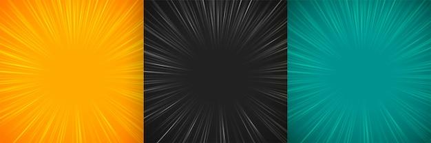 Lignes De Zoom Comique Design De Fond Vide Vecteur gratuit